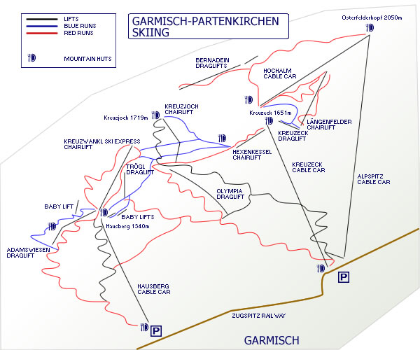 Map Of Germany Garmisch.Garmisch Skiing