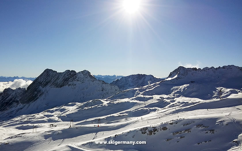 Skiing on the Zugspitze