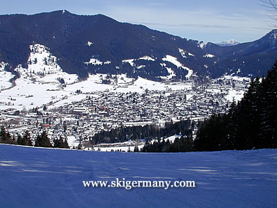 View from the Kolben ski area over Oberammergau