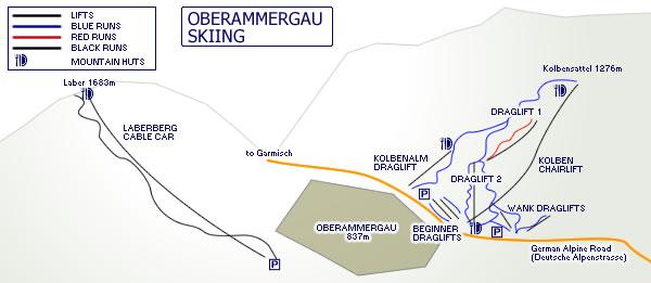 Oberammergau Germany Map.Oberammergau Skiing