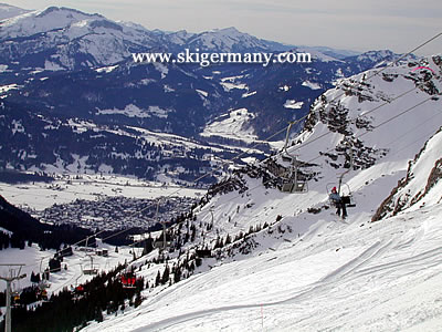 The Nebelhorn ski area at Oberstdorf Germany