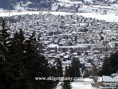 Aerial view of Oberstdorf from the ski area